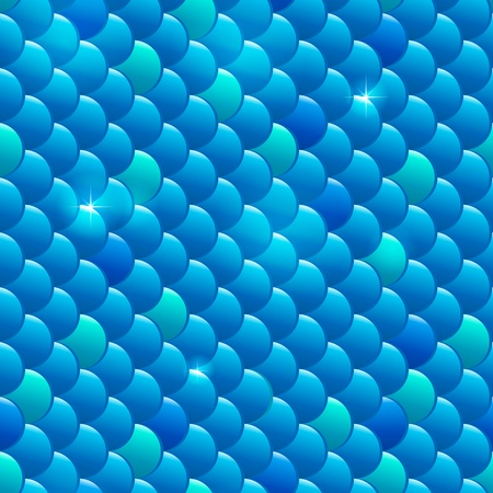 fish scales: Seamless river fish scales pattern Stock Photo
