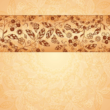 Ornate  doodle flowers background Stock Photo