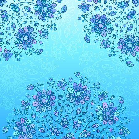 Bright blue flowers background Stock Photo - 17502133