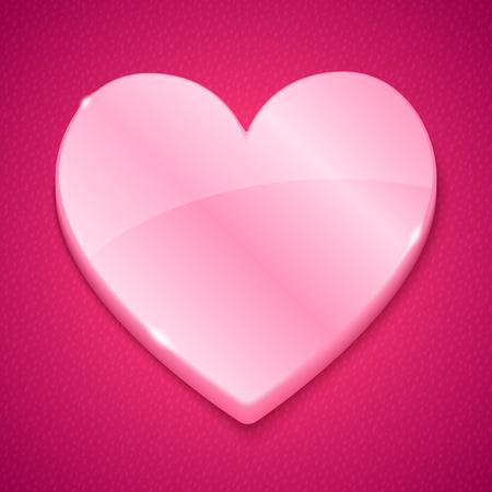 plastic heart: Lucida cuore di plastica rosa su sfondo testurizzati