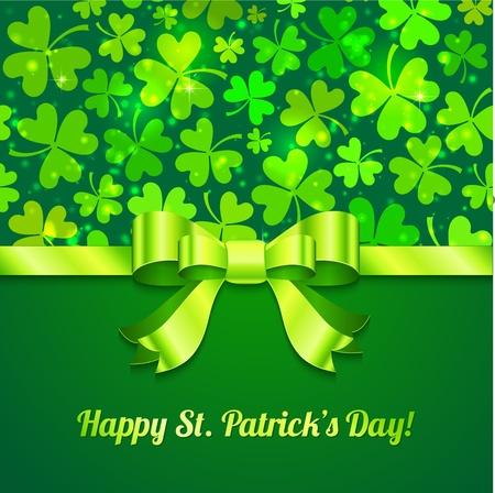 Saint Patrick s day green greeting card Stock Vector - 17502147