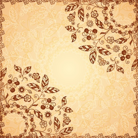 Ornate  doodle flowers background Stock Photo - 17540565