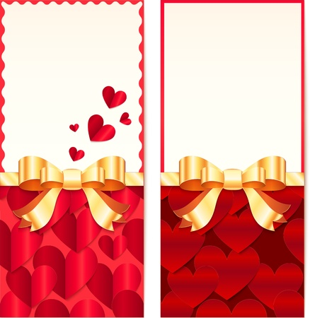 Valentines day greeting cards templates Stock Photo - 17631223