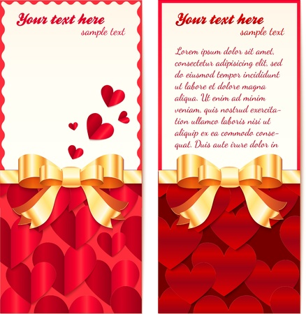 Valentines day greeting cards templates Stock Vector - 17769491