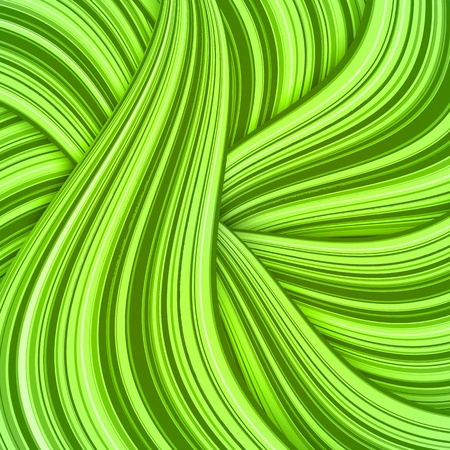 Green hair waves abstract background Stock Photo - 17769479