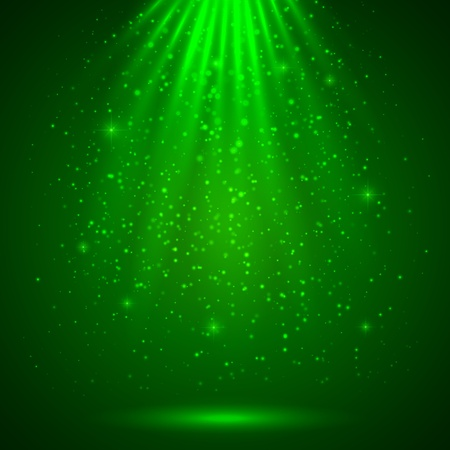 Green magic light abstract background Stock Vector - 17854225