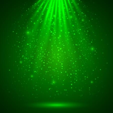 Groen magisch licht abstracte achtergrond