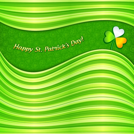 Green Patrick s Day abstract background greeting card Stock Vector - 18013339