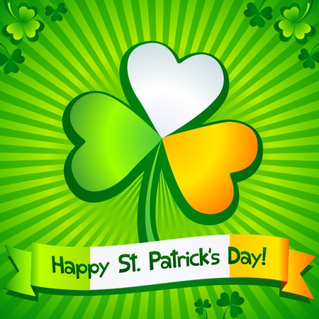 Saint Patrick s Day clover greeting card Stock Vector - 18054485