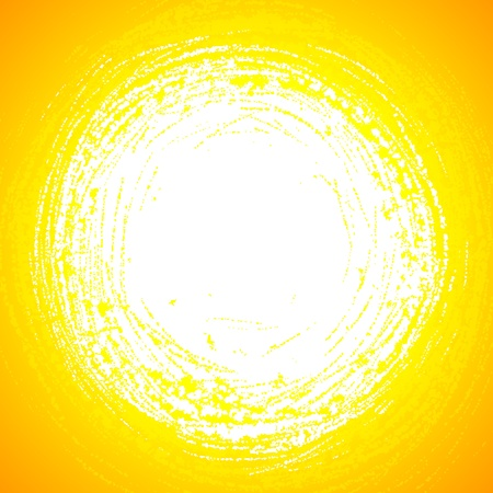 Yellow grunge sun reflection in abstract water Vector