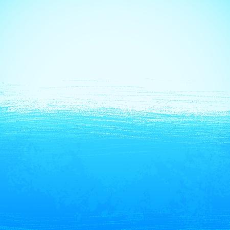 mare agitato: Priorità bassa luminosa dipinta sfondo blu oceano