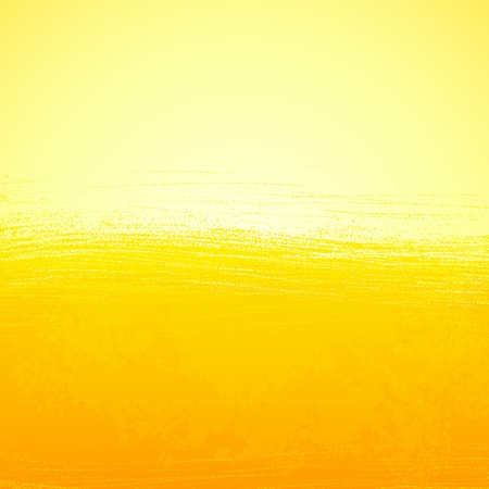 oil pastels: Abstract bright painted orange sunny background Stock Photo