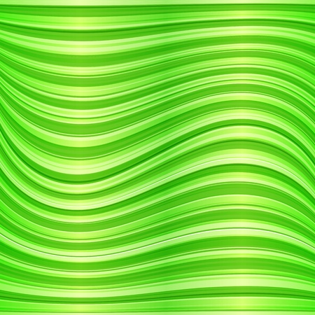 Green wavy abstract background Stock Vector - 18054580