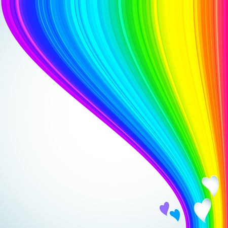 Rainbow Lines Background   illustration for your design  Stock Photo