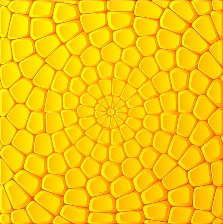 Gele maïs bakstenen vector abstracte achtergrond Vector Illustratie