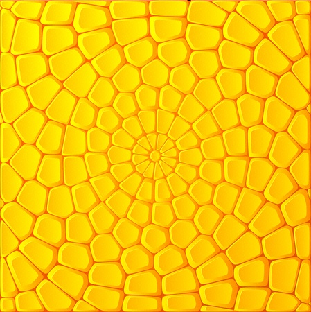 green and yellow: Yellow corn bricks vector abstract background