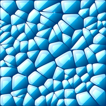 kaleidoscopic: Blue abstract stained glass mosaic background
