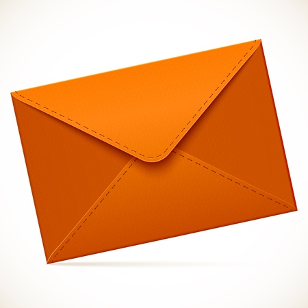 Brown empty vector mail envelope Vector