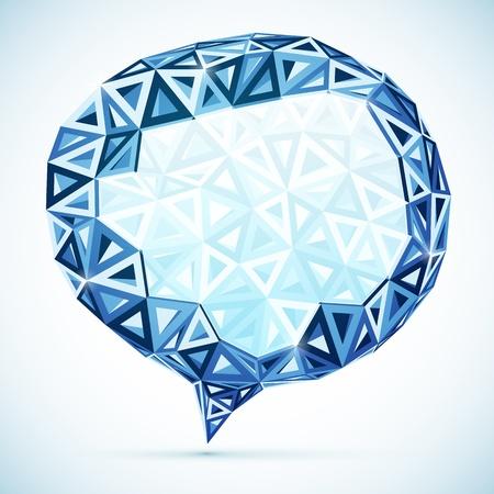 idea bubble: Abstract triangles idea bubble