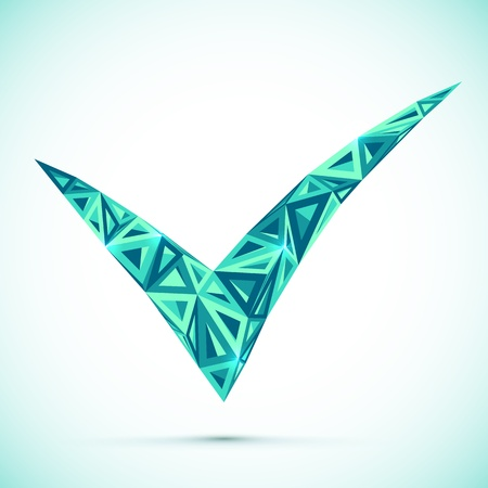 Blue abstract check mark Stock Vector - 18648545
