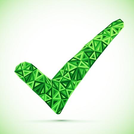 Green triangle check mark Stock Vector - 18648475