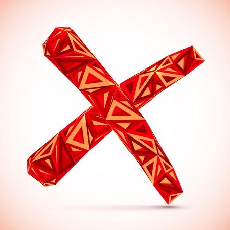 abstract cross: Rosso astratto segno di croce