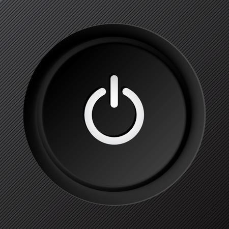 media player: Black plastic power button