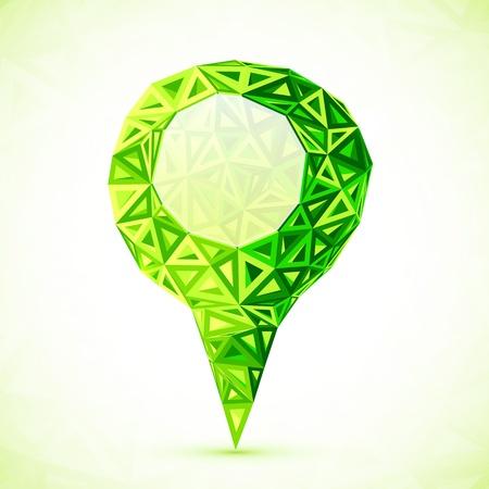 Résumé triangles cartographier pointeur d'emplacement