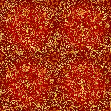 Vector doodles vintage ornate seamless pattern Stock Vector - 19355902