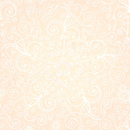 Vector doodles vintage ornate seamless pattern Stock Vector - 19355903