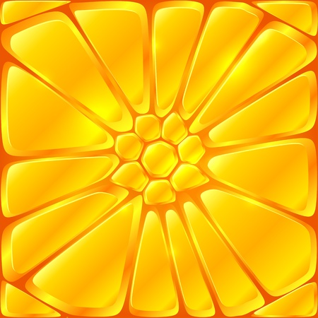 Golden yellow vector bricks seamless pattern tile Vector
