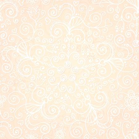 Vector doodles vintage ornate seamless pattern Stock Vector - 19355946