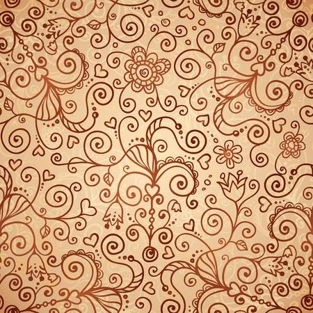 Vector doodles vintage ornate seamless pattern Stock Photo - 19355926