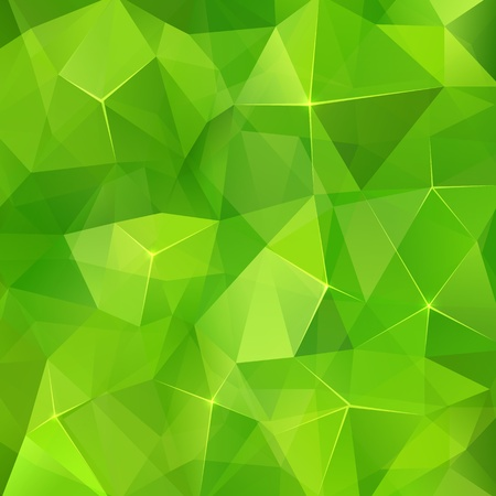 the green background: Abstract triangles geometry vector background