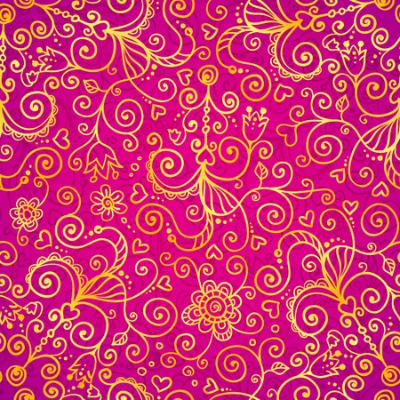 Vector doodles vintage ornate seamless pattern Stock Vector - 19355916