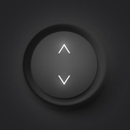 Black vector button with arrows Stock Photo - 19355907