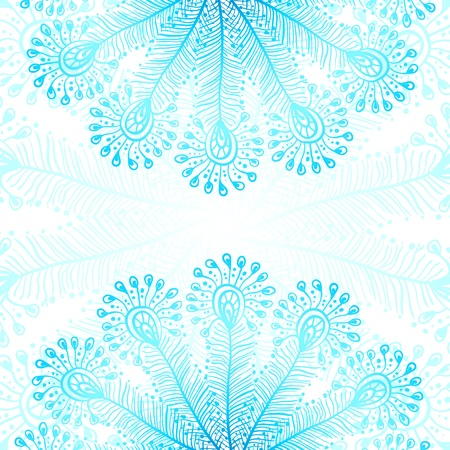 Blue vector peacock feathers background Vector