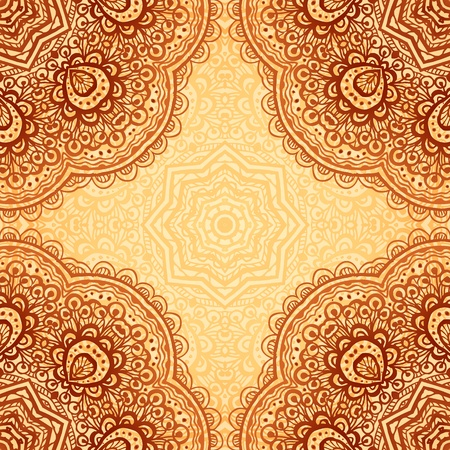 Sierlijke etnische henna kleuren vector achtergrond in Indische stijl