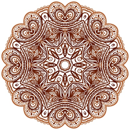 Ornate ethnic henna colors vector mandala in indian style photo