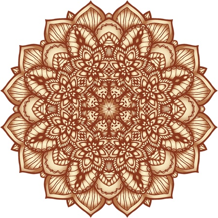 Ornate flowers henna colors vector mandala in indian style photo
