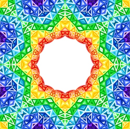 Rainbow kaleidoscope vector colorful background Çizim