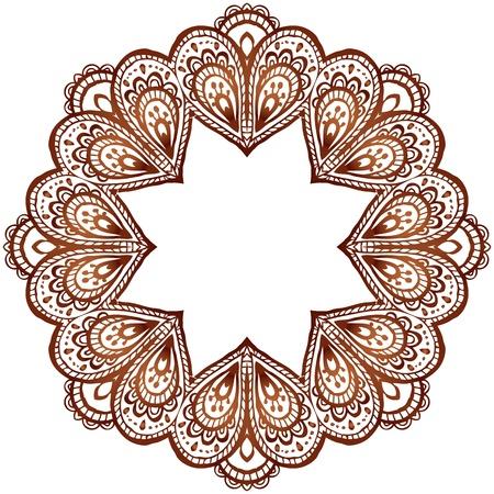 インド スタイルで華やかなベクトルの円パターン  イラスト・ベクター素材