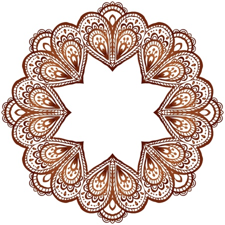 Ornate vector circle pattern in indian style Vector