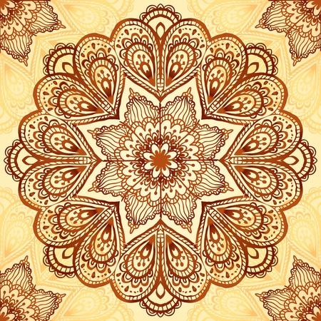 Ornate vintage vector napkin background