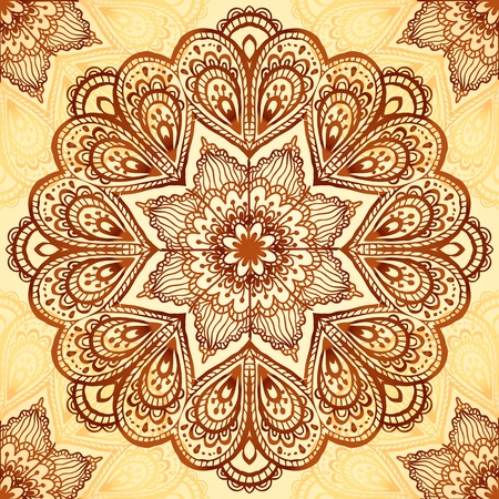 Ornate vintage vector napkin background  Vector