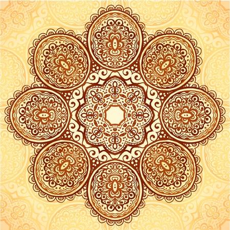 Ornate vintage vector flower napkin background Vector