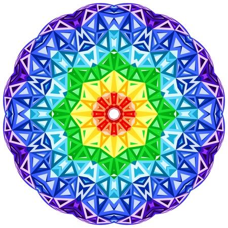 Caleidoscopio del arco iris vector círculo vibrante
