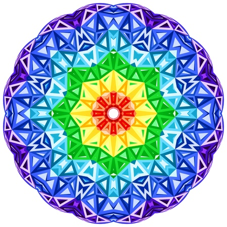 kaleidoscope: Rainbow kaleidoscope vector vibrant circle