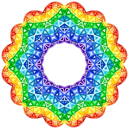 Rainbow kaleidoscope vector vibrant circle photo