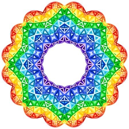 kaleidoscopic: Rainbow kaleidoscope vector vibrant circle